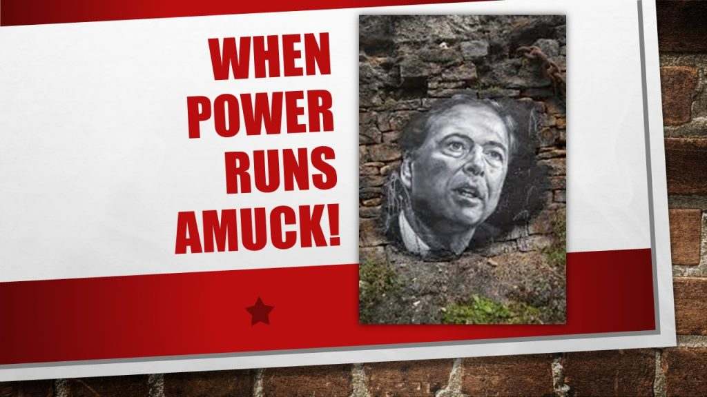 JAMES COMEY- WHEN POWER RUNS AMUCK!