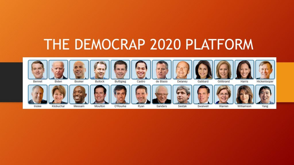 THE DEMOCRAP 2020 PLATFORM